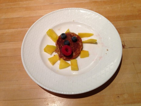 And then we let the kids play with their food...as long as they ate it after!