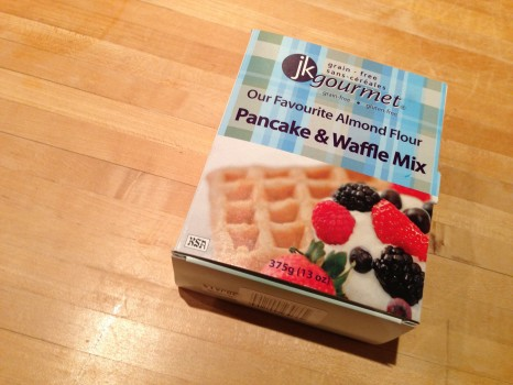 Today was Pancake Day (who knew?) so we tried out JK Gourmet's new grain-free pancake mix.