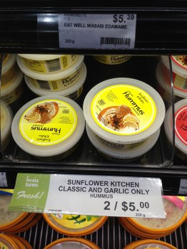 Sunflower Kitchen's hummus, pestos and soups.