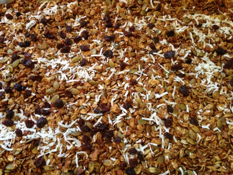 On the 5th day of cleansing, I made granola and can't believe it took me 44 years to do this! I love this granola and the smell that wafted through my house when it was baking.