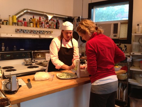 Chef Mary shows us how to make zucchini pasta with her spirulizer.