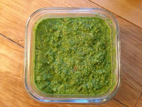 We ramped up our veggie pasta with this gorgeously green ramp pesto.