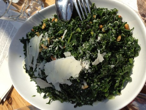 Gusto 101's sought-after kale salad.