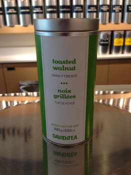On the 4th day of cleansing, I bought a big canister of my favourite toasted walnut green tea from DAVIDsTEA. I drink it every morning, straight up.