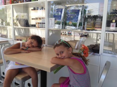 The girls were feeling the heat.