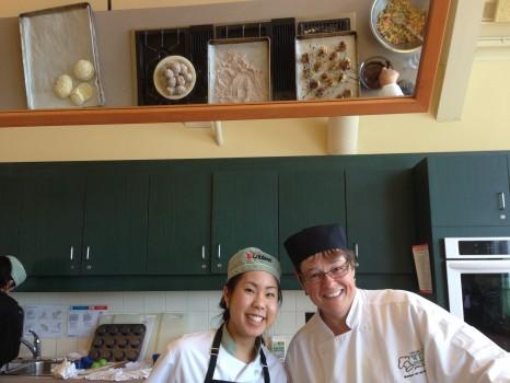 Our teacher Monique van den Wildenberg and TK TK.