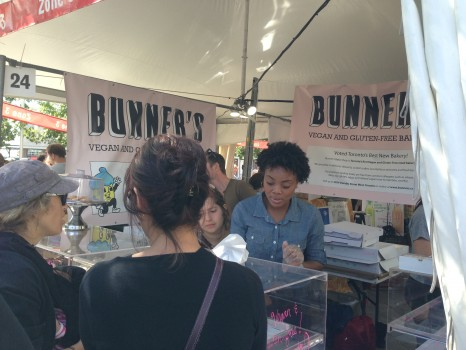 We made a beeline to Bunner's, where we spotted co-owner Kevin MacAllister munching down on one of their vegan, gluten-free baked goods. We don't blame him!
