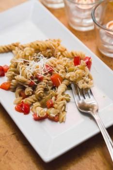 Eggplant pasta salad with fusilli