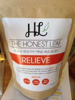 Relieve tea from The Honest Leaf for my gluten-free girl when she has a sore tummy.