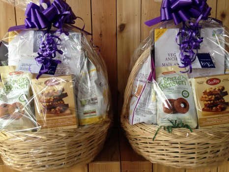 At Gluten Free Garage, you can fill out a ballot to win one of these gorgeous gift baskets filled with imported and local gluten-free goods from Lady York Foods!