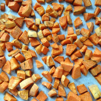 Step 2: Roast sweet potatoes.