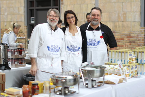 The Italpasta team, from left: Chef Gianni Ceschia, Laura Dal Bo and Perry Battista