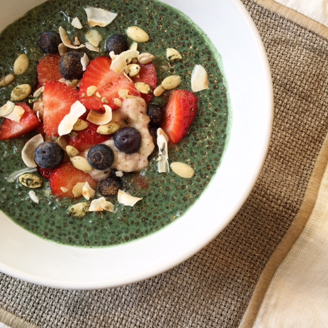 Green Chia Porridge